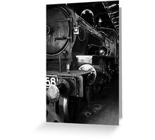 Steam Engine at Newport Yards 2 Greeting Card