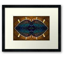 Golden kiss Framed Print