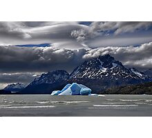 Iceberg, Mountains and Sky Photographic Print