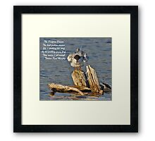 The Platform Dancer Framed Print