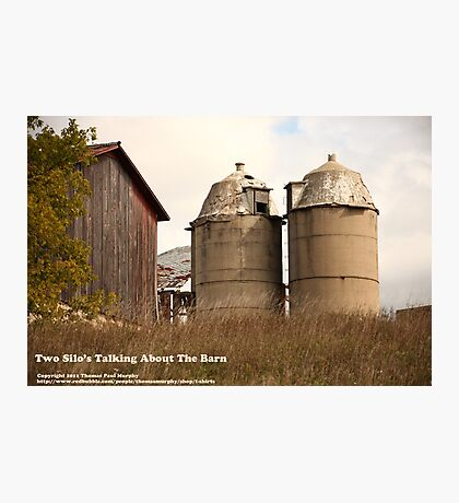Two Silos Talking About The Barn Photographic Print