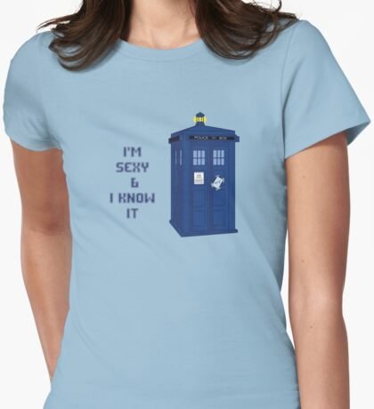 Sexy & I know it - TARDIS Womens Fitted T-Shirt