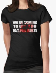 Zombie barbara Womens Fitted T-Shirt