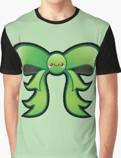 Cute Green Kawaii Bow Graphic T-Shirt