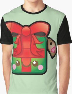 Cute Kawaii Christmas Present Graphic T-Shirt