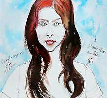 The Auburn Hair Blue Eyes Girl by ivDAnu