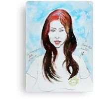 The Auburn Hair Blue Eyes Girl Canvas Print