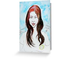 The Auburn Hair Blue Eyes Girl Greeting Card