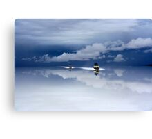 Bolivia salt desert after the rain Canvas Print