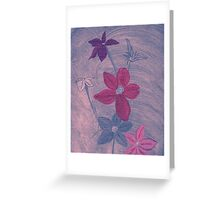Pink and Gray Greeting Card