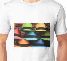 Colorful Handmade Panama Hats Unisex T-Shirt