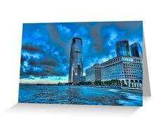 Jersey City downtown view Greeting Card