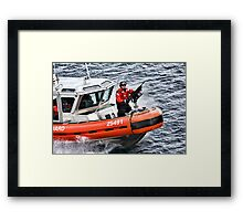 US Coast Guard At Work Framed Print
