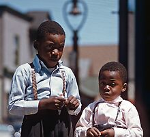 Boys after Church Rochester New York  19570609 0011  by Fred Mitchell