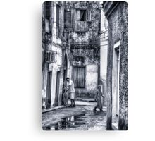 Stone Town Alley Canvas Print