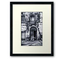 Stonetown Alley Zanzibar Framed Print