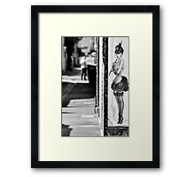 She lures them in.... Framed Print