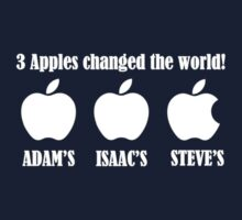 3 Apples Changed The World - Tribute - Steven/Steve Jobs R.I.P One Piece - Short Sleeve