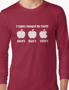 3 Apples Changed The World - Tribute - Steven/Steve Jobs R.I.P Long Sleeve T-Shirt