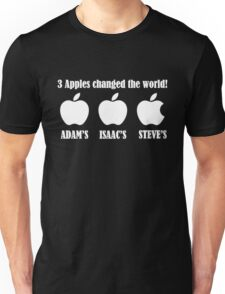 3 Apples Changed The World - Tribute - Steven/Steve Jobs R.I.P Unisex T-Shirt