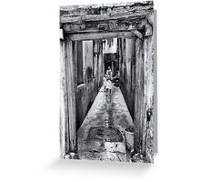 3 African Kids in Stone Town Greeting Card