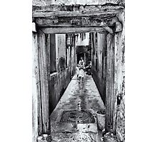3 African Kids in Stone Town Photographic Print