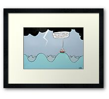 the relunctant adventurer  Framed Print