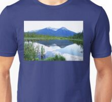 Vermillion Lakes Reflection Unisex T-Shirt