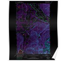 USGS Topo Map Washington State WA Lawrence 241958 1952 24000 Inverted Poster