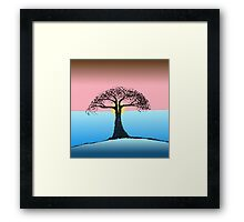 Silhouette Tree At Sunset   Framed Print