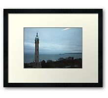 North Avenue Water Tower with Halo Framed Print