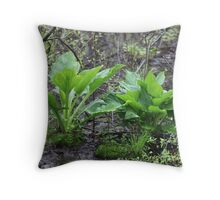 Ravine Trail Vegetation 3281 Throw Pillow