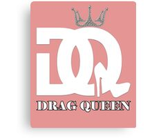 Drag queen logo Canvas Print