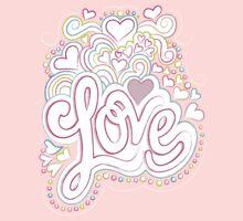 Groovy Love Valentine T Kids Tee