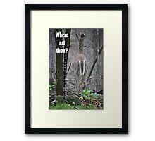 Where art thou? Framed Print