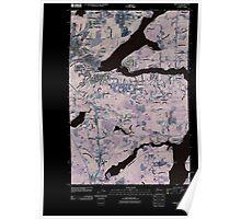 USGS Topo Map Washington State WA Shelton 20110418 TM Inverted Poster