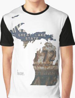 Michigan Home Graphic T-Shirt