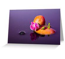 Pink Rose - Water Splash Greeting Card