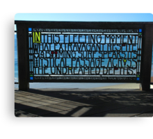""" Ocean Fence ""  Canvas Print"