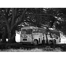 Abandoned bus  Photographic Print