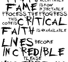Truth, Fame, Faith, Lives by toomanyfandomss