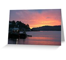 Sunset, Oban Harbour Greeting Card