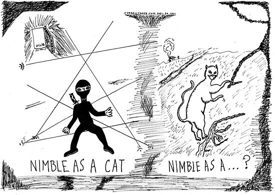 Nimble as a Cat ninja cartoon by bubbleicious