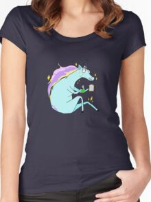 Majestic Scientist  Women's Fitted Scoop T-Shirt