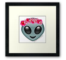 alien with a flowercrown  Framed Print