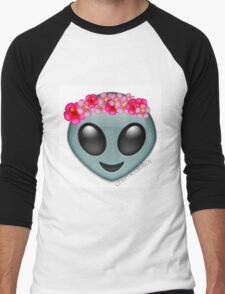 alien with a flowercrown  Men's Baseball ¾ T-Shirt