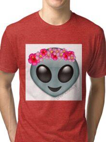 alien with a flowercrown  Tri-blend T-Shirt