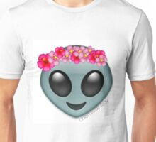 alien with a flowercrown  Unisex T-Shirt
