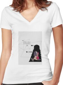 the impossible girl, oswin oswald Women's Fitted V-Neck T-Shirt