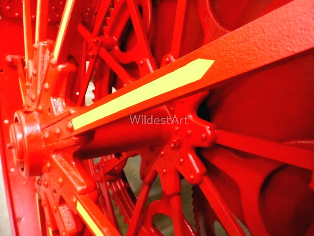 Red Gears On The Avery by WildestArt